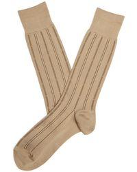 Perry Ellis - Microfiber Luxury Stripe Sock - Lyst