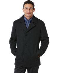 Perry Ellis | Tall Wool Scarf Portfolio Coat | Lyst