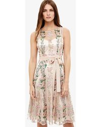 Phase Eight - Fodula Embroidered Dress - Lyst