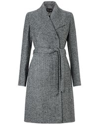 Phase Eight - Devyn Texture Belted Coat - Lyst