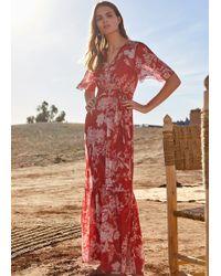 2ec1cc7fb0a Monsoon Amy Print Maxi Dress in Black - Lyst