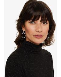 Phase Eight - Kristen Stone Front Hoop Earrings - Lyst
