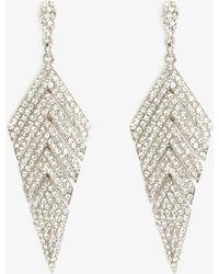 Phase Eight - Carmen Chevron Sparkle Drop Earrings - Lyst