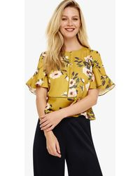 Phase Eight - Chartreuse Hilary Floral Blouse - Lyst