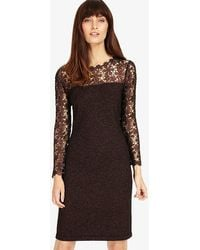 Phase Eight - Suzy Foil Lace Dress - Lyst