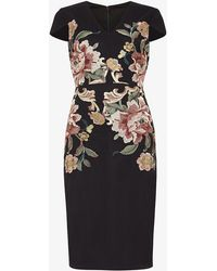 Phase Eight | Nara Floral Embroidered Dress | Lyst