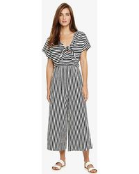 Phase Eight - Janine Linen Blend Striped Jumpsuit - Lyst