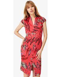 Phase Eight - Bria Snake Palm Print Dress - Lyst