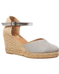 Phase Eight - Suede Wedge Espadrille Shoes - Lyst