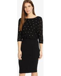 Phase Eight - Adele Star Embroidered Dress - Lyst