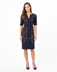 Phase Eight - Luisa Lace Ponte Dress - Lyst
