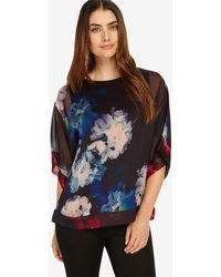 7a5f1d31612c3 Simply Be Deep Orchid Longline Blouse in Red - Lyst