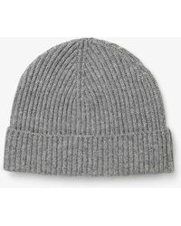 Phase Eight - Ribbed Cashmere Hat - Lyst