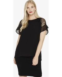 Lyst - Boohoo Pamela Pu Plunge Neck Shift Dress in Black 1d246cb5f