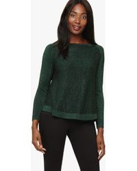 42ba7052786 'terza' Shimmer Swing Knitted Jumper