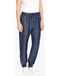 Phase Eight - Crista Chambray Jogger Trousers - Lyst