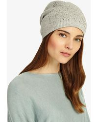 0e4815c41d1 Phase Eight - Embellished Beanie - Lyst