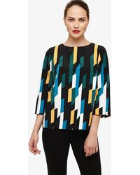 Phase Eight - Sage Geo Print Blouse - Lyst