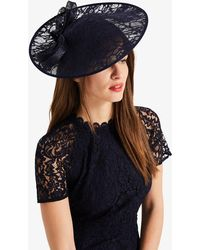 Phase Eight - Navy Demi Lace Disc Fascinator - Lyst