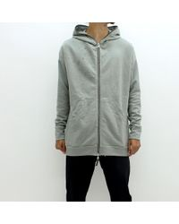 Adyn - Distressed Shot Hooded Sweatshirt Grey - Lyst