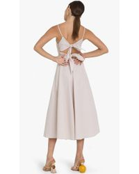 Pixie Market - Capri Bow Back Tie Midi Dress - Lyst