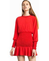 Lyst - Boohoo Beatrice Velvet Midi Bodycon Dress in Black ba710d174
