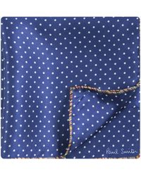 Paul Smith - Polka Dot Silk Pocket Square Navy - Lyst