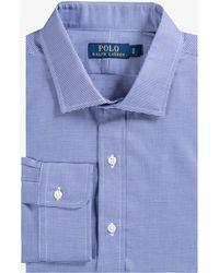 Ralph Lauren - Regular Fit Mini Gingham Shirt Navy White - Lyst