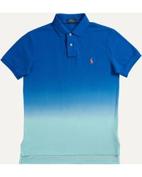 Ralph Lauren - Custom Fit 2-button Fade Polo Bright Imperial Blue - Lyst