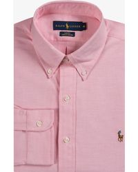 Ralph Lauren - Classic Slim Fit Stretch Oxford Bsr Pink - Lyst