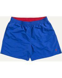 Ralph Lauren - Classic Logo Swim Short Royal Blue - Lyst