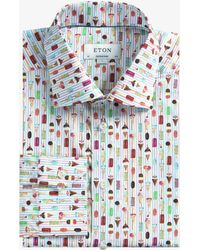 Eton of Sweden - Contemporary Fit Ice Cream Print Shirt Multi - Lyst