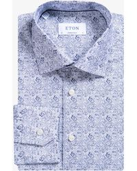 Eton of Sweden - Contemporary Fit Paisley Shirt White/navy - Lyst