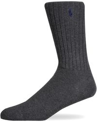 Pockets - Ralph Lauren Ribbed One Size Sock Charcoal - Lyst