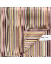 Paul Smith - Classic Multi Stripe Silk Pocket Square Multi - Lyst