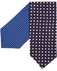 Paul Smith | Reversible Polka Dot Cravat Blue | Lyst