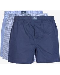 Ralph Lauren - 3 Pack Loose Boxer Shorts Blue/navy/white - Lyst