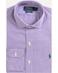Ralph Lauren - Slim Fit City Striped Cotton Shirt Purple/white - Lyst