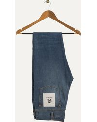 Paul Smith - Slim Fit Antique Wash Jeans Mid Blue - Lyst