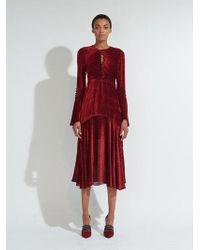 255019694b Prabal Gurung | Long Sleeve Twist Dress With Keyhole | Lyst