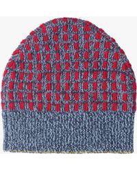 Prada | Wool Cashmere Jacquard Hat | Lyst