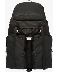 Prada - All Designer Products - Nylon And Saffiano Leather Backpack - Lyst