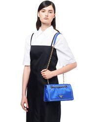 f273bde04704 Prada Floral-embroidered Nylon Belt Bag in Black - Lyst