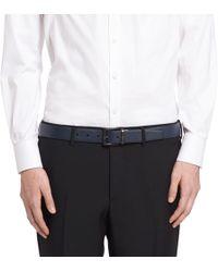 Prada - Saffiano Cuir Leather Reversible Belt - Lyst
