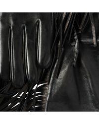Prada - Fringed Leather Gloves - Lyst