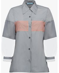 Prada - All Designer Products - Cotton Blouse - Lyst