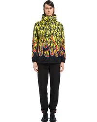 Prada - Padded Printed Nylon Jacket - Lyst