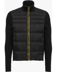 Prada - All Designer Products - Featherlight Nylon Down And Knitwear Jacket - Lyst