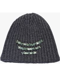 Prada | Embroidered Wool And Cashmere Hat | Lyst