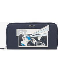Prada - All Designer Products - Saffiano Leather Document Holder - Lyst